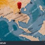 Pin On Hanoi Vietnam World Map Stock Photo Edit Now 1282777681