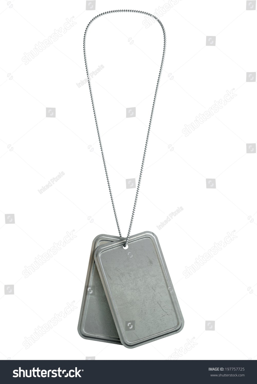 medium resolution of a regular set of blank military dog tag identity tags attached to a chain hanging on