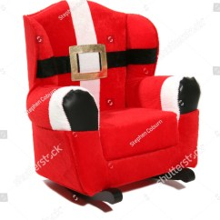 Santa Claus Chair Modern Black Leather Desk A Rocking Over White Stock Photo 2172311