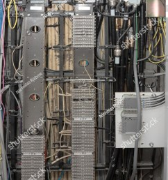 a telecommunications cabinet and wiring  [ 1001 x 1600 Pixel ]