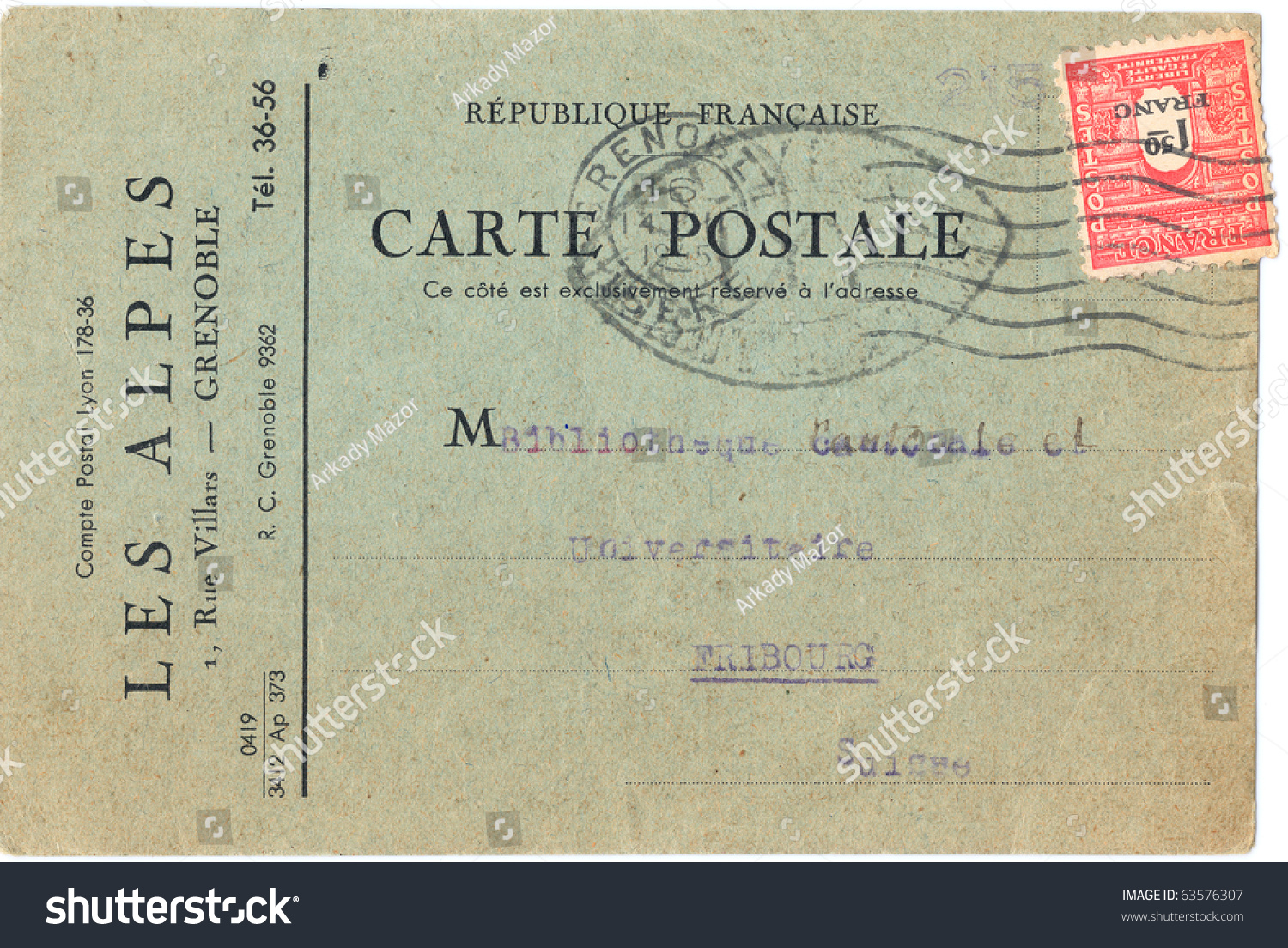 Envelope Border Fashioned French Old