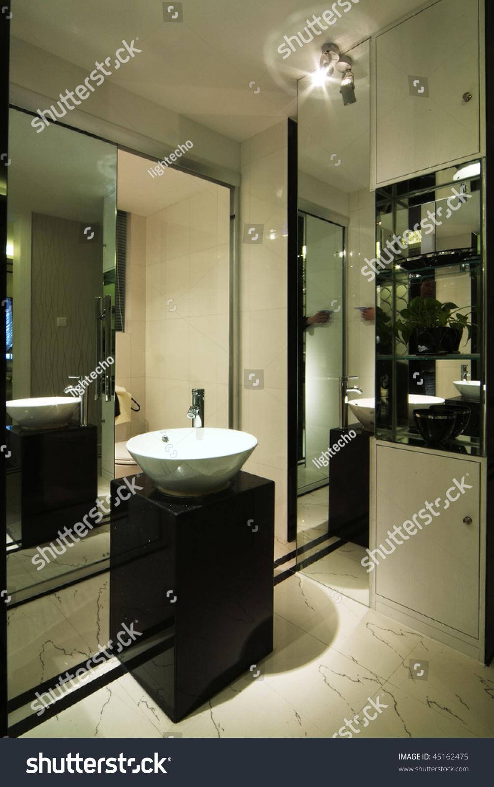 A Washroom In Modern Style. Stock Photo 45162475 : Shutterstock
