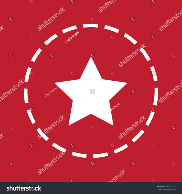White Icon Isolated Maroon Background - 5 Pointed