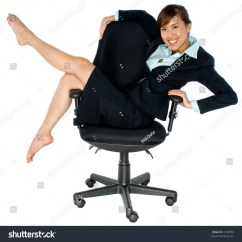Japanese Office Chair Stool Meaning A Young Asian Woman Relaxing In Big On