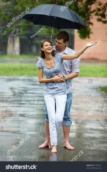 Couple Walking Barefoot