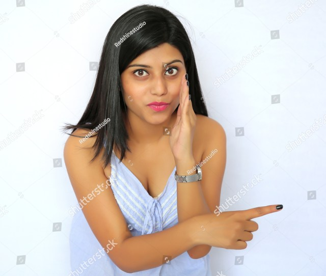 Young Sexy Indian Girl Pointing Her Stock Photo Edit Now