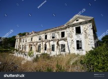 Abandoned Hotel War In Croatia Stock