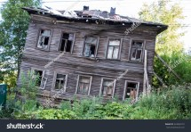 Abandoned Wooden House Arkhangelsk Russian Northern Stock