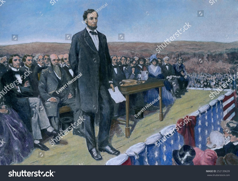 Abraham Lincoln Delivering Gettysburg Address