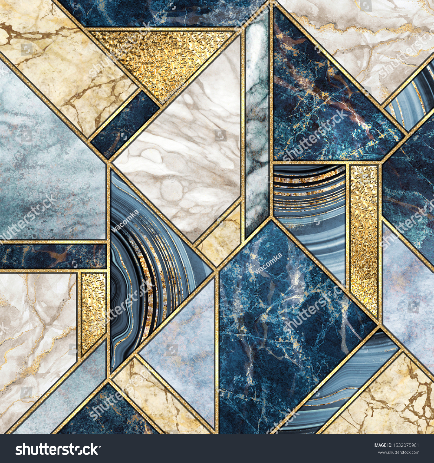 https www shutterstock com image illustration abstract background modern marble mosaic artificial 1532075981
