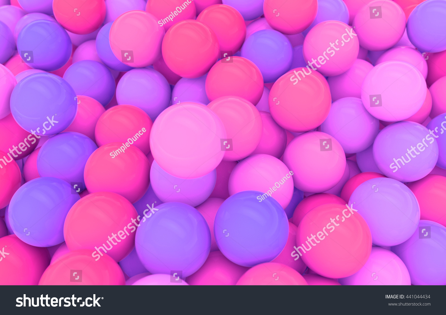 abstract background shiny balls reflections 3d stock illustration