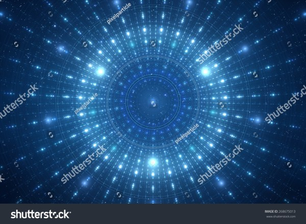 Abstract Science Fiction Futuristic Background Stock