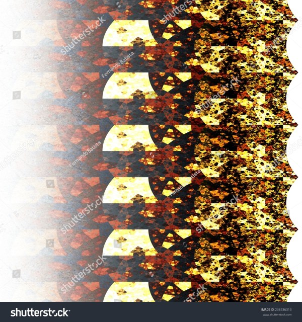 Abstract Symmetrical Orange Hexagon Fractal Mosaic Stock 238536313 Shutterstock