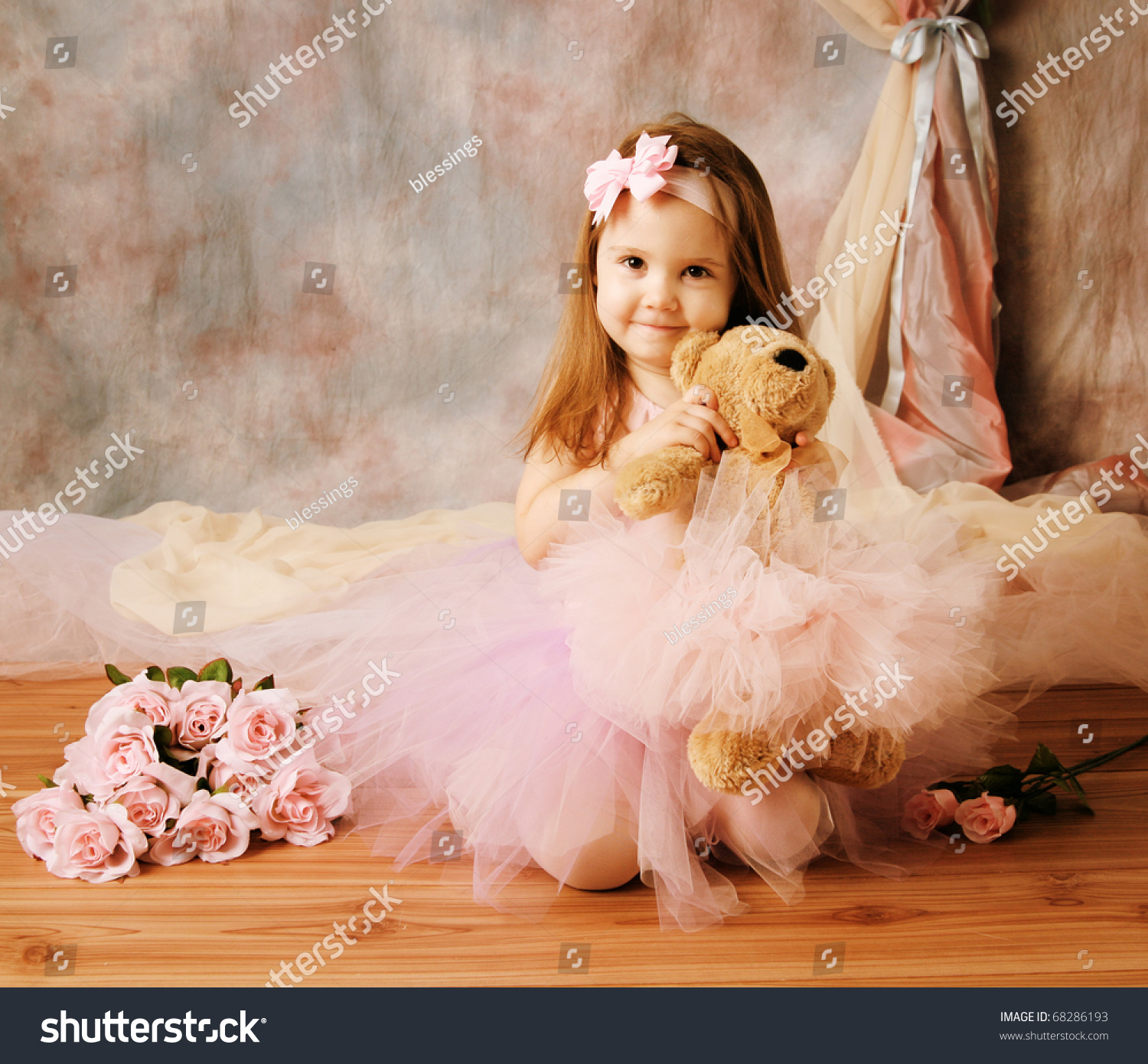 Girl Holding Teddy Bear Wallpapers Adorable Little Girl Dressed As A Ballerina In A Tutu