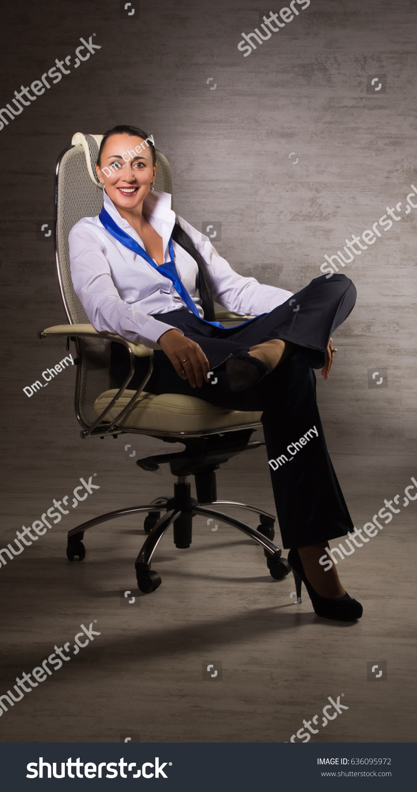 Chair Pants Adult Business Woman Dressed Into Pants Stock Photo Edit Now