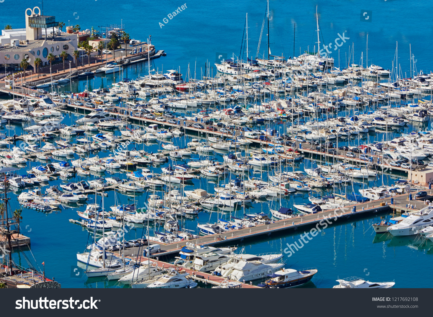 aerial view alicante harbour
