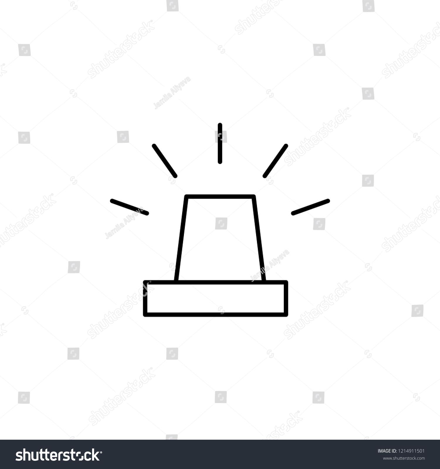 hight resolution of alarm icon element of simple web icon thin line icon for website design and development app development premium icon illustration