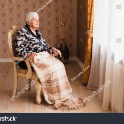 Old Lady Chair Suvs With Captains Chairs Alone Woman Sitting By Stock Photo 507815689