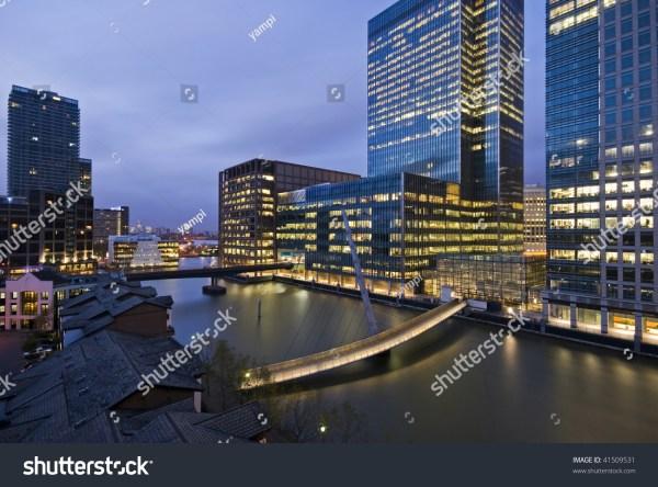 Amazing City View Of Canary Wharf Sunset Stock 41509531 Shutterstock