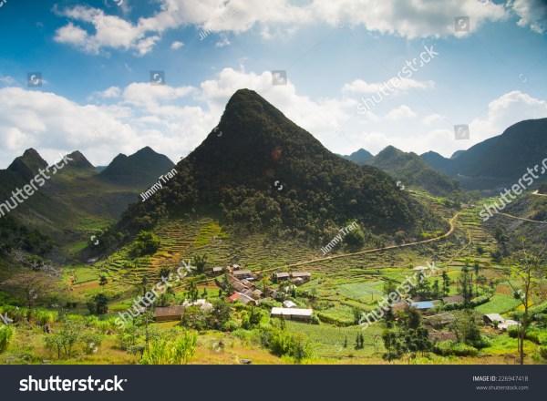 Amazing Mountain Landscape In Dong Van Karst Plateau Global Geological Park Hagiang Vietnam