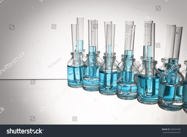Arrangement Glass Science Vials Test Tubes Stock