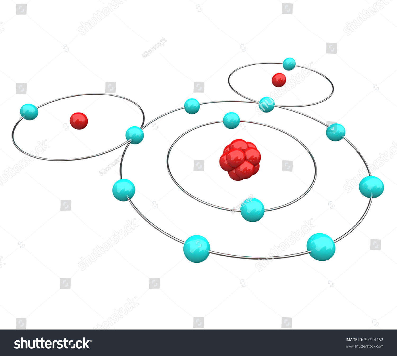Atomic Diagram Water H20 Showing Protons Stock