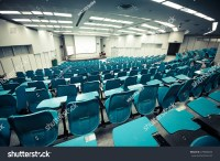 Empty Large Lecture Room University Classroom Stock Photo ...