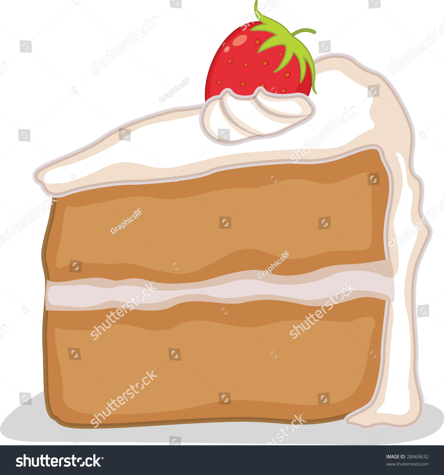 hight resolution of an illustration of a slice of cake