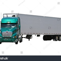 Semi Trailer Deutsch Rs232 To Rj45 Wiring Diagram Isolated Green Tractor Turned Stock Photo