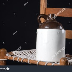 Rope Bottom Chair Swivel Not Staying Up Old Pottery Ceramic Country Jug Stock Photo Edit Now 59901988 An And On A Black Background In The