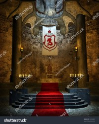 Ancient Fantasy Throne Room Stone Stairs Stock Illustration 52318825