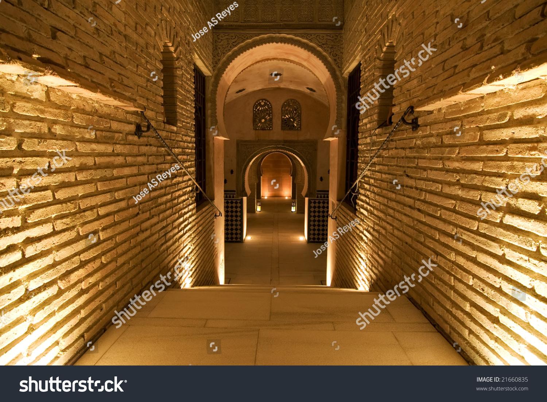 Ancient Palace Interior Arab Style Stock Photo 21660835