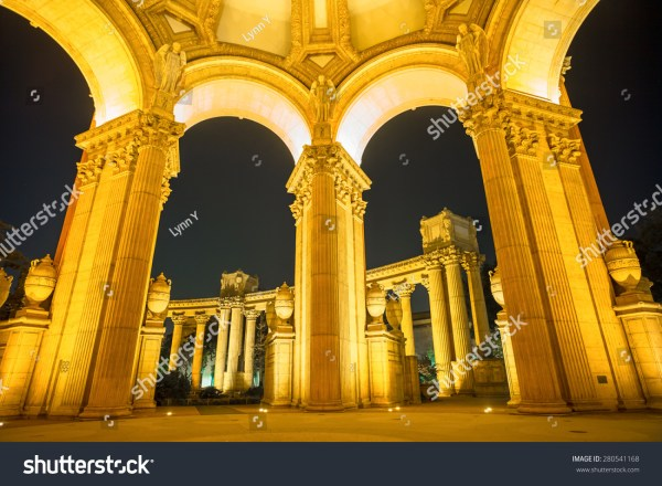 Arches Palace Of Fine Arts Museum Night In