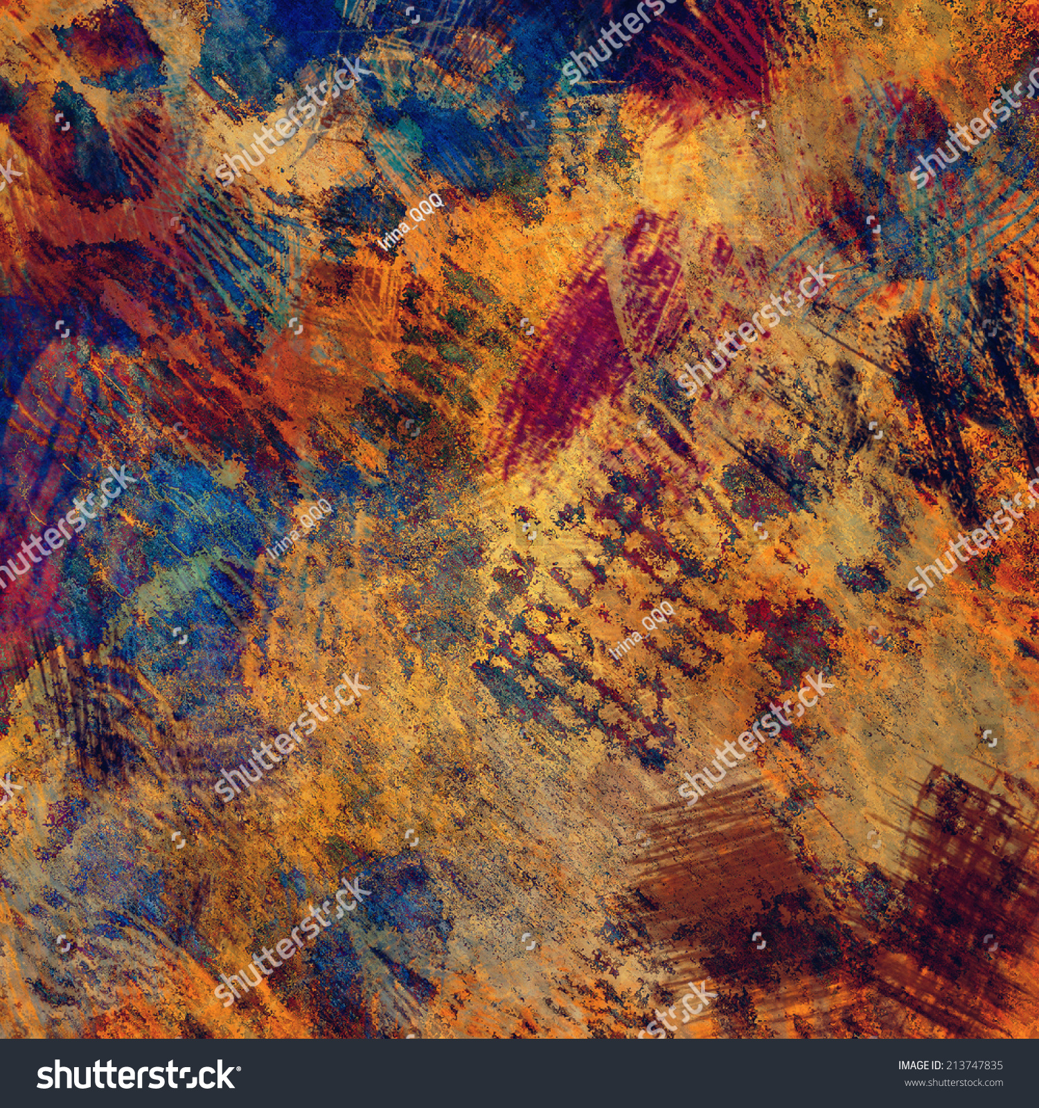Art Abstract Colorful Acrylic Pencil Background Stock Illustration