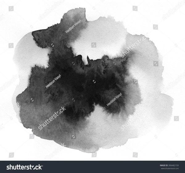 Art Of Watercolor. Black Spot Watercolor Paper
