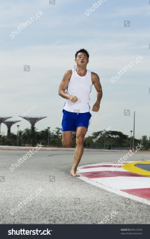 Barefoot Running On Track
