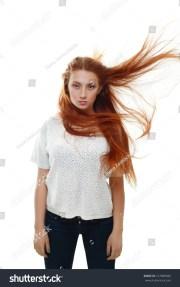 attractive teenage girl model hair
