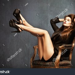 High Heel Chair Cheap Small Space Kitchen Table And Chairs Women In Black Heels Is