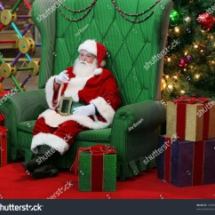 Santa Claus Chair Zenergy Ball Replacement Authentic Sitting Large Green Stock Photo