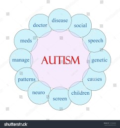 autism concept circular diagram in pink and blue with great terms such as disease social [ 1500 x 1600 Pixel ]