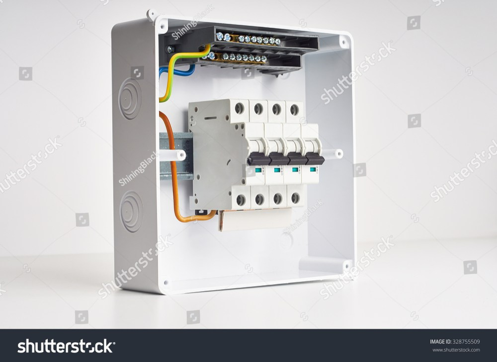 medium resolution of automatic fuses and wires in fusebox electricity distribution box inside