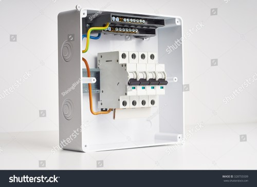 small resolution of automatic fuses and wires in fusebox electricity distribution box inside