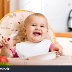 Baby Sitting Chair India Room Essentials Sphere Highchair Spoon Plate On ภาพสตอก 175696946