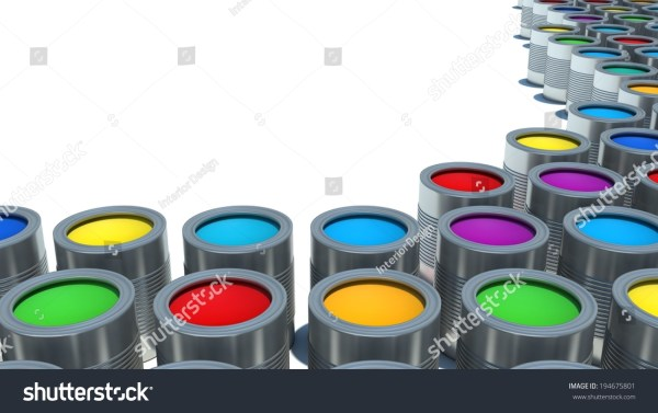 Background Multi Color Cans Of Paint Stock 194675801 Shutterstock