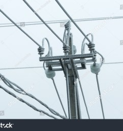 bad weather frost air electric line hoarfrost on the wires poles  [ 1500 x 1096 Pixel ]