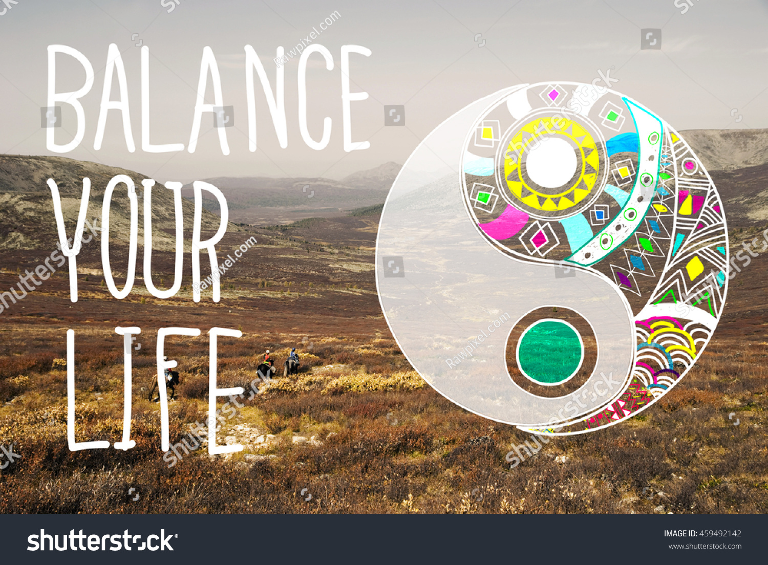 Balance Your Life Equality Steady Concept Stock Photo