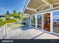Balcony House Exterior Glass Railings Perfect Stock Photo ...