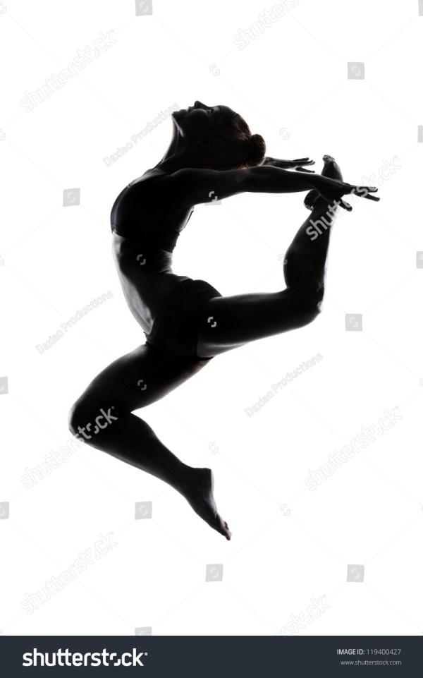 Ballet Dancer Black Body Paint Series Stock
