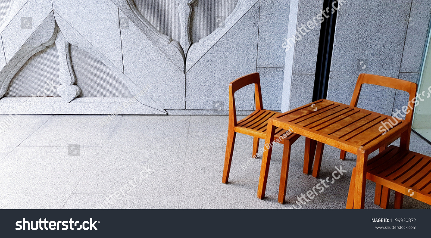 chair design bangkok butterfly covers brisbane thailand october 16 2018 wooden stock photo edit now and table with art modern