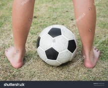 Soccer Ball On Foot
